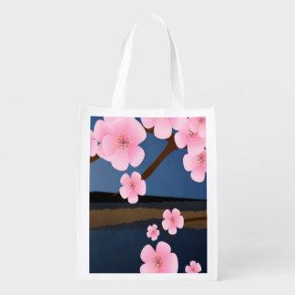 Sacola Ecológica Flores da cereja de Ásia
