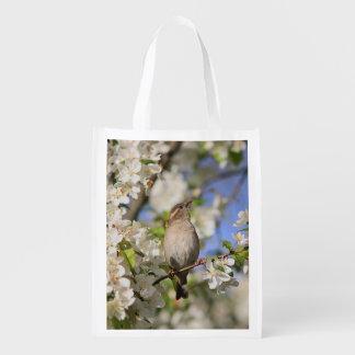 Sacola Ecológica Flores do pardal e do primavera de casa