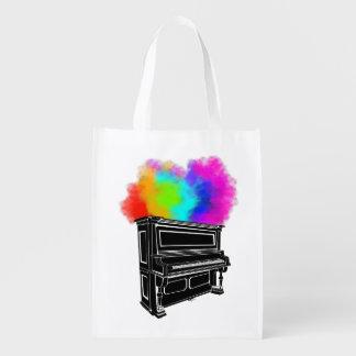 Sacola Ecológica Fumo colorido do piano