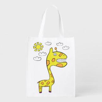 Sacola Ecológica Girraffey o girafa - saco reusável