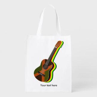 Sacola Ecológica Guitarra da reggae de Rastafarian