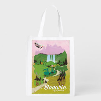 Sacola Ecológica Impressão do viagem da paisagem de Baviera