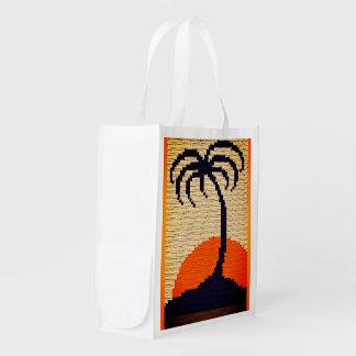 Sacola Ecológica Impressão tropical do Crochet da palmeira do