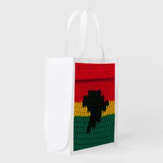 Sacola Ecológica Impressão vermelho do Crochet do preto do verde do