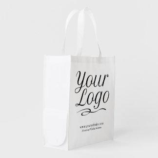 Sacola Ecológica Logotipo reusável feito sob encomenda do