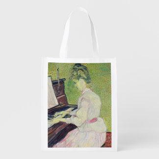Sacola Ecológica Marguerite Gachet de Vincent van Gogh | no piano