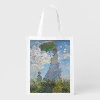 Sacola Ecológica Mulher de Claude Monet | com um parasol