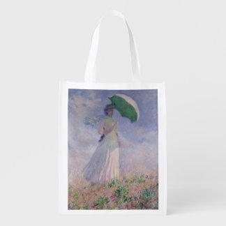 Sacola Ecológica Mulher de Claude Monet | com um parasol girado