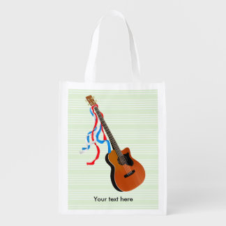 Sacola Ecológica Música acústica do americano da guitarra baixa