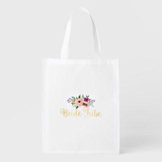 Sacola Ecológica O bolsa reusável - o bolsa floral do mercado do