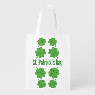 Sacola Ecológica O dia de St Patrick com trevo