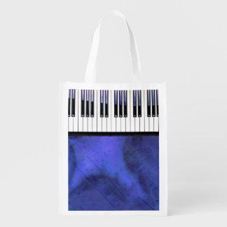 Sacola Ecológica O piano fecha a torção moderna da partitura
