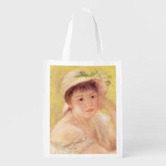 Sacola Ecológica Pierre uma mulher de Renoir | em um chapéu de
