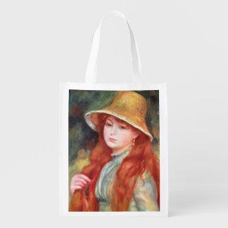 Sacola Ecológica Pierre uma rapariga de Renoir | em um chapéu de