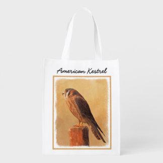 Sacola Ecológica Pintura americana do Kestrel - arte original do