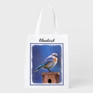 Sacola Ecológica Pintura (fêmea) do Bluebird - arte original do