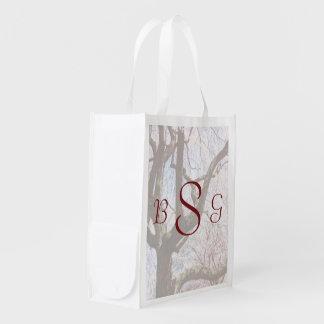 Sacola Ecológica Produtos do casamento do close up da árvore de