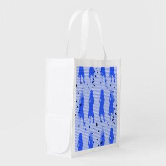Sacola Ecológica Redemoinho listrado azul das meninas do formando