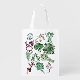Sacola Ecológica Saco básico com impressão do alimento biológico