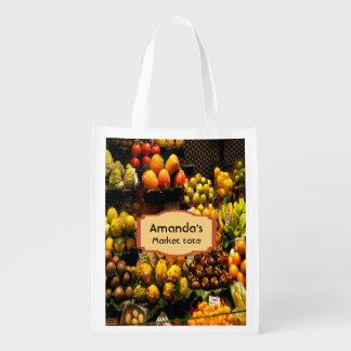 Sacola Ecológica Saco de compras do mercado de fruta no marrom do