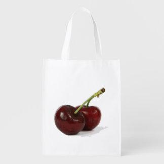 Sacola Ecológica Saco reusável das cerejas de Bing