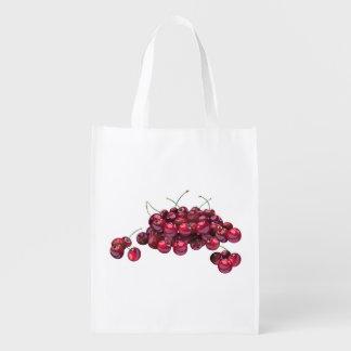Sacola Ecológica Saco reusável das cerejas vermelhas