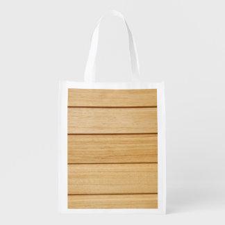Sacola Ecológica Saco reusável dos azulejos de madeira