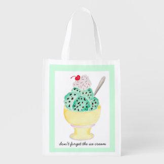 Sacola Ecológica Saco reusável - não esqueça o sorvete!