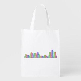 Sacola Ecológica Skyline da cidade de Detroit