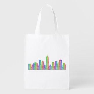 Sacola Ecológica Skyline da cidade de Indianapolis