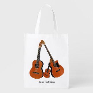 Sacola Ecológica Ukulele da guitarra acústica e baixo acústico