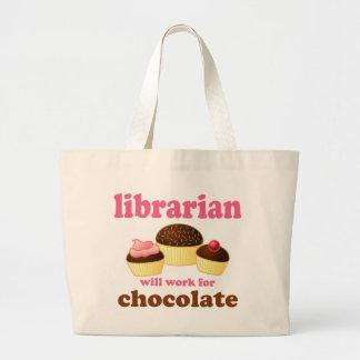 Sacola engraçada do bibliotecário bolsa