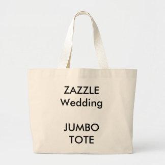 Sacola enorme feita sob encomenda do casamento bolsa tote grande