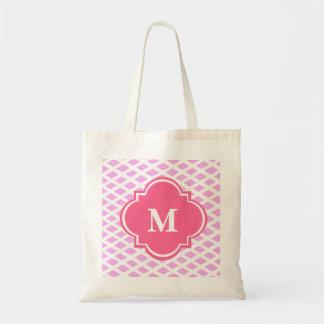 Sacola feita sob encomenda cor-de-rosa do bolsas de lona