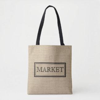 Sacola feita sob encomenda do mercado do vintage bolsas tote