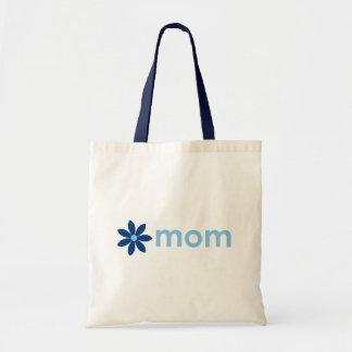 Sacola floral azul alegre do dia das mães bolsa