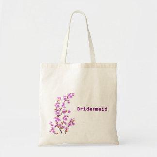 Sacola floral feita sob encomenda do casamento da sacola tote budget