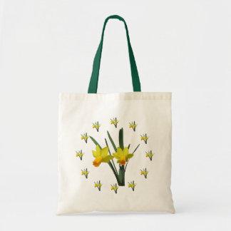Sacola - flores do Daffodil Bolsa Tote