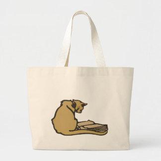 Sacola literária do jumbo do gato bolsas