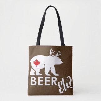 Sacola marrom de Canadá do urso da cerveja Bolsas Tote