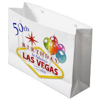Sacola Para Presentes Grande 50th Saco do presente de aniversário de Las Vegas