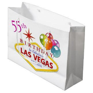 Sacola Para Presentes Grande 55th Saco do presente de aniversário de Las Vegas