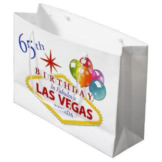 Sacola Para Presentes Grande 65th Saco do presente de aniversário de Las Vegas