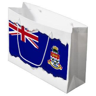 Sacola Para Presentes Grande Bandeira de Cayman Islands