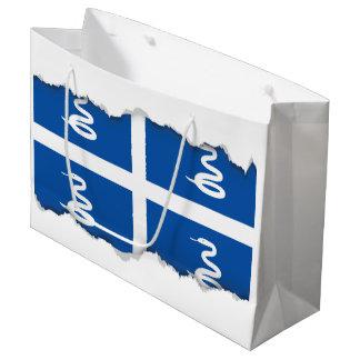 Sacola Para Presentes Grande Bandeira de Martinica