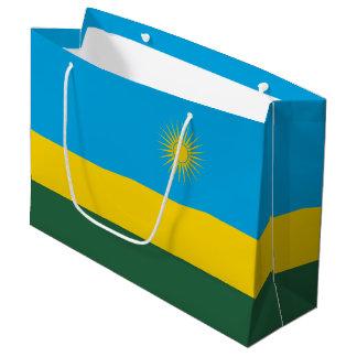 Sacola Para Presentes Grande Bandeira de Rwanda