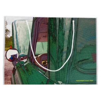 Sacola Para Presentes Grande Caminhão clássico como saco do presente da arte o