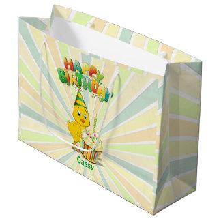 Sacola Para Presentes Grande Desenhos animados coloridos da galinha do