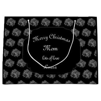 Sacola Para Presentes Grande Design da poinsétia da mamã do Feliz Natal