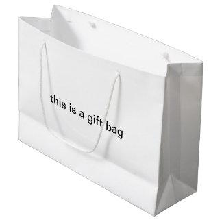 """Sacola Para Presentes Grande """"este é saco do presente de um saco do presente"""""""